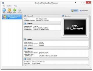 Tampilan Virtual Box yang telah dipasang Virtual Machine