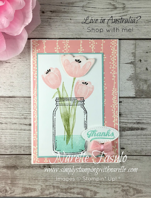 Tranquil Tulips - An exclusive set available only to qualifying orders - Ask me how you can get one - Simply Stamping with Narelle - Shop here - https://www3.stampinup.com/ecweb/default.aspx?dbwsdemoid=4008228