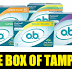2 Free Boxes of O.B. Tampons