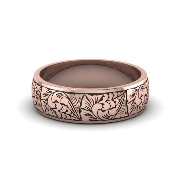 Rose Gold Mens Wedding Ring