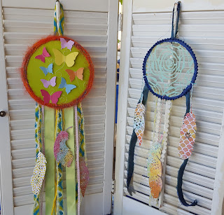 Paper, fabric, and embroidery hoops...does it get better?