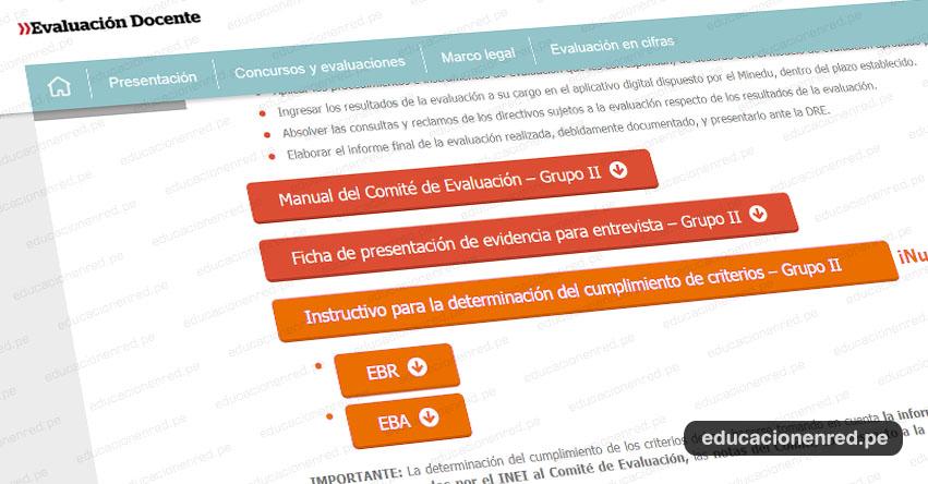 MINEDU: Instructivo para la determinación del cumplimiento de criterios - Grupo II - Evaluación Desempeño Cargos Directivos IE [COMITÉ DE EVALUACIÓN] www.minedu.gob.pe