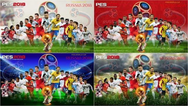World Cup 2018 Start Screen PES 2018