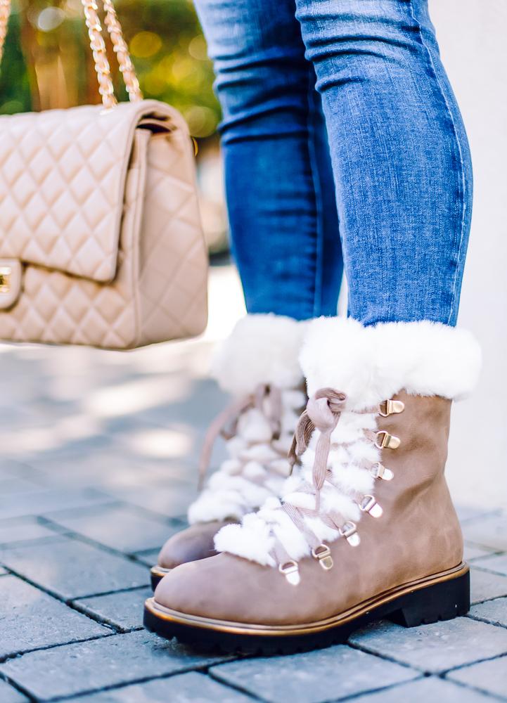 target faux fur boots