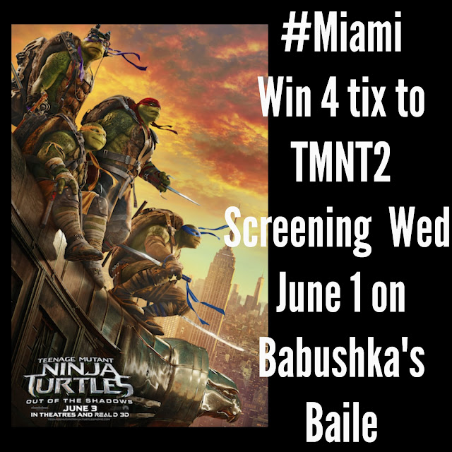 TMNT2 MOVIE TICKET GIVEAWAY