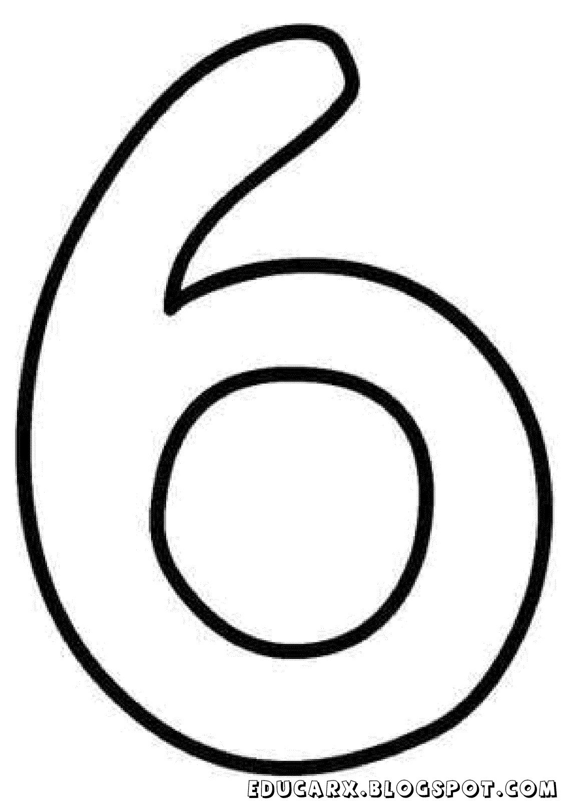 Molde do numero 6