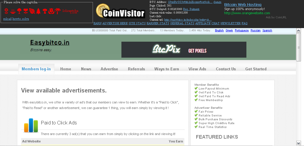 The Bitcoin Master: Site Review: CoinVisitor (2 updates)