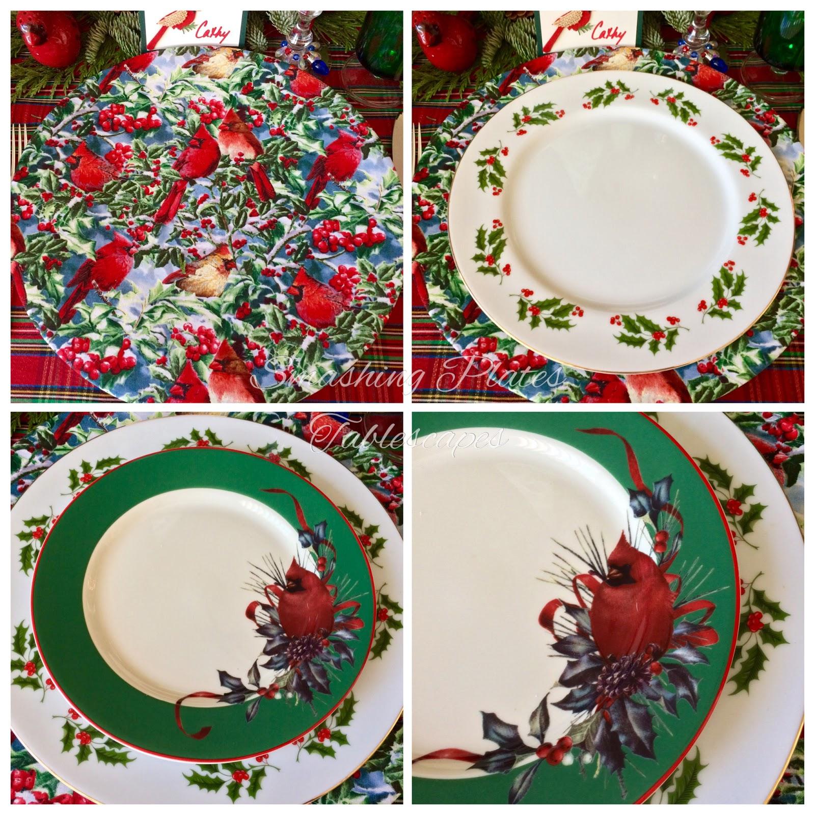 smashing plates tablescapes carolina cardinal christmas