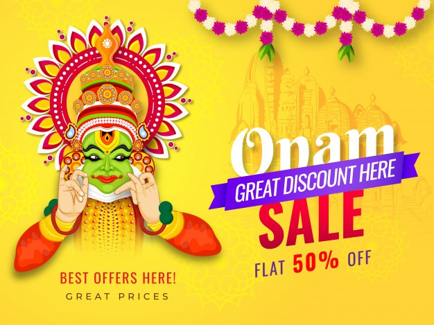 Onam sale offer kathakali