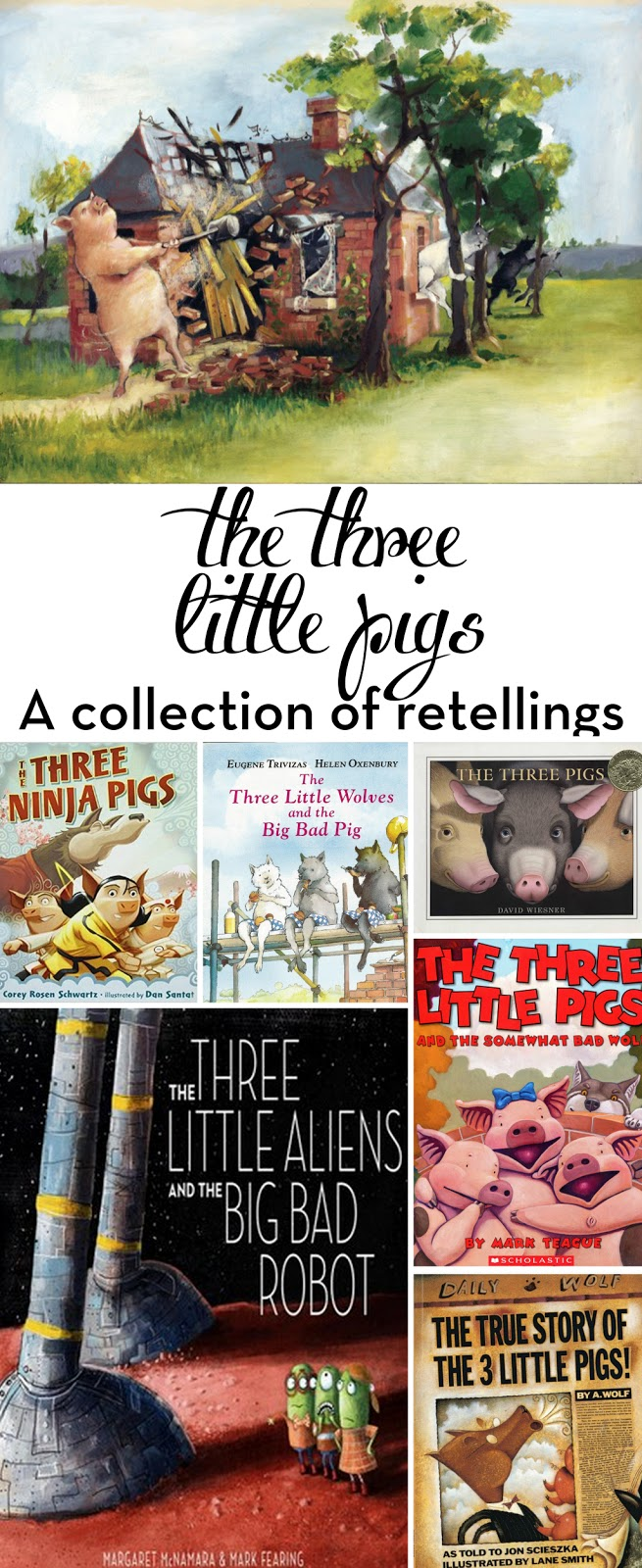 A round-up of the best Three Little Pigs retellings