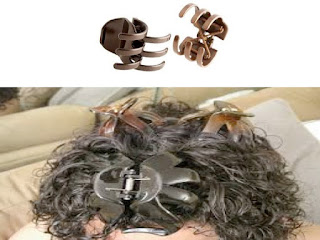 Hair clips to style natural curly hair