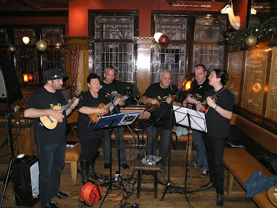 N'Ukes ukulele band rocking the Leopard