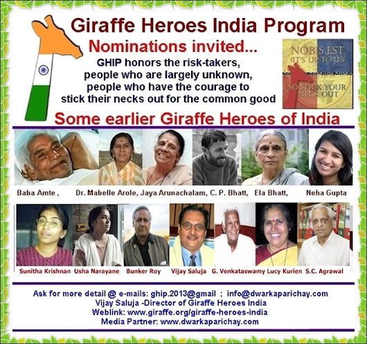 Giraffe Heroes India invites nominations from all over India