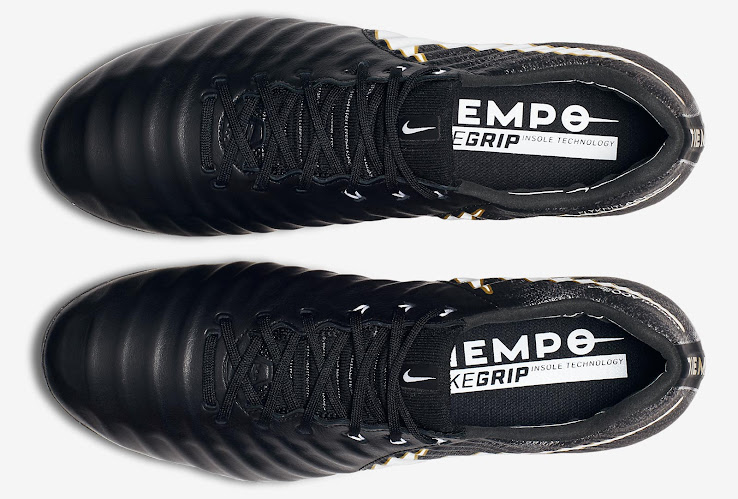 Schwarz Weiß Goldene Nike Tiempo Legend Pitch Dark