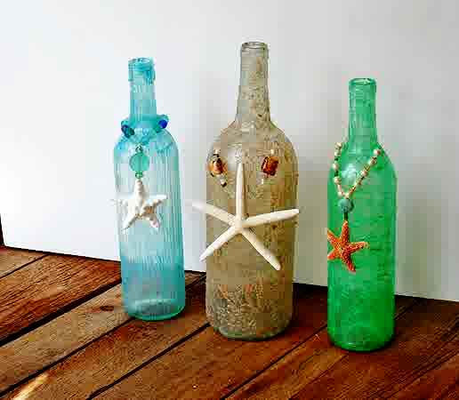 Wine Bottle Craft: Wine Bottle Recycle Craft Project