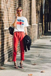 Track Pants Dan T-shirt wanita kekinian