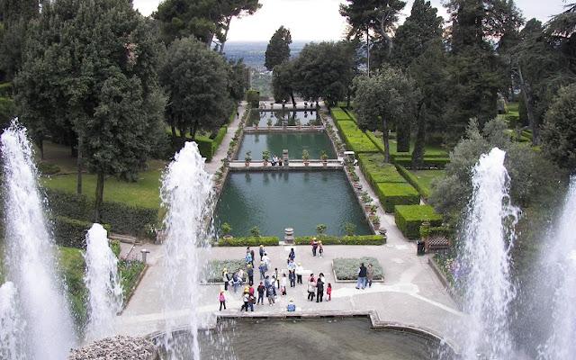 Sobre a Villa d'Este em Roma