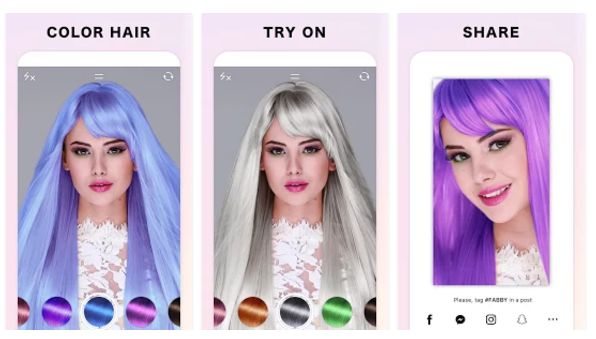 Image result for Fabby Look : hair color & style effects apk