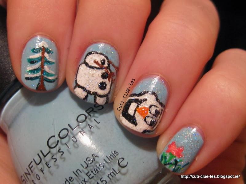 Cuti-CLUE-les: Disney's Frozen- Olaf nail art