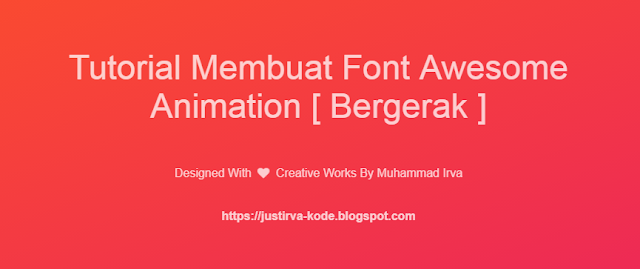 Tutorial Membuat Font Awesome Animation
