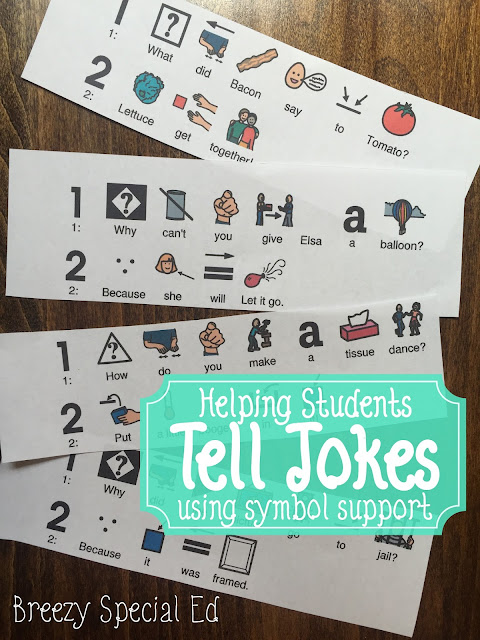 How to teach special education students how to tell jokes using symbol support (free download)