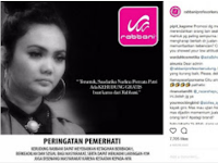 Keputusan Rina Nose Lepas Hijab Masih Kontroversial, Toko Busana Muslim Rabbani Gratiskan Jilbabnya Untuknya