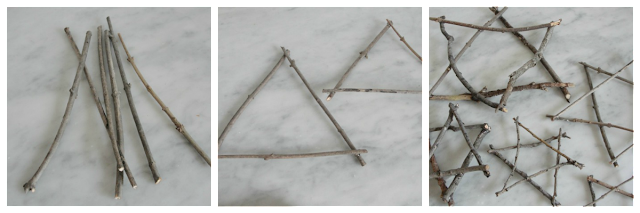 cut twigs into stars