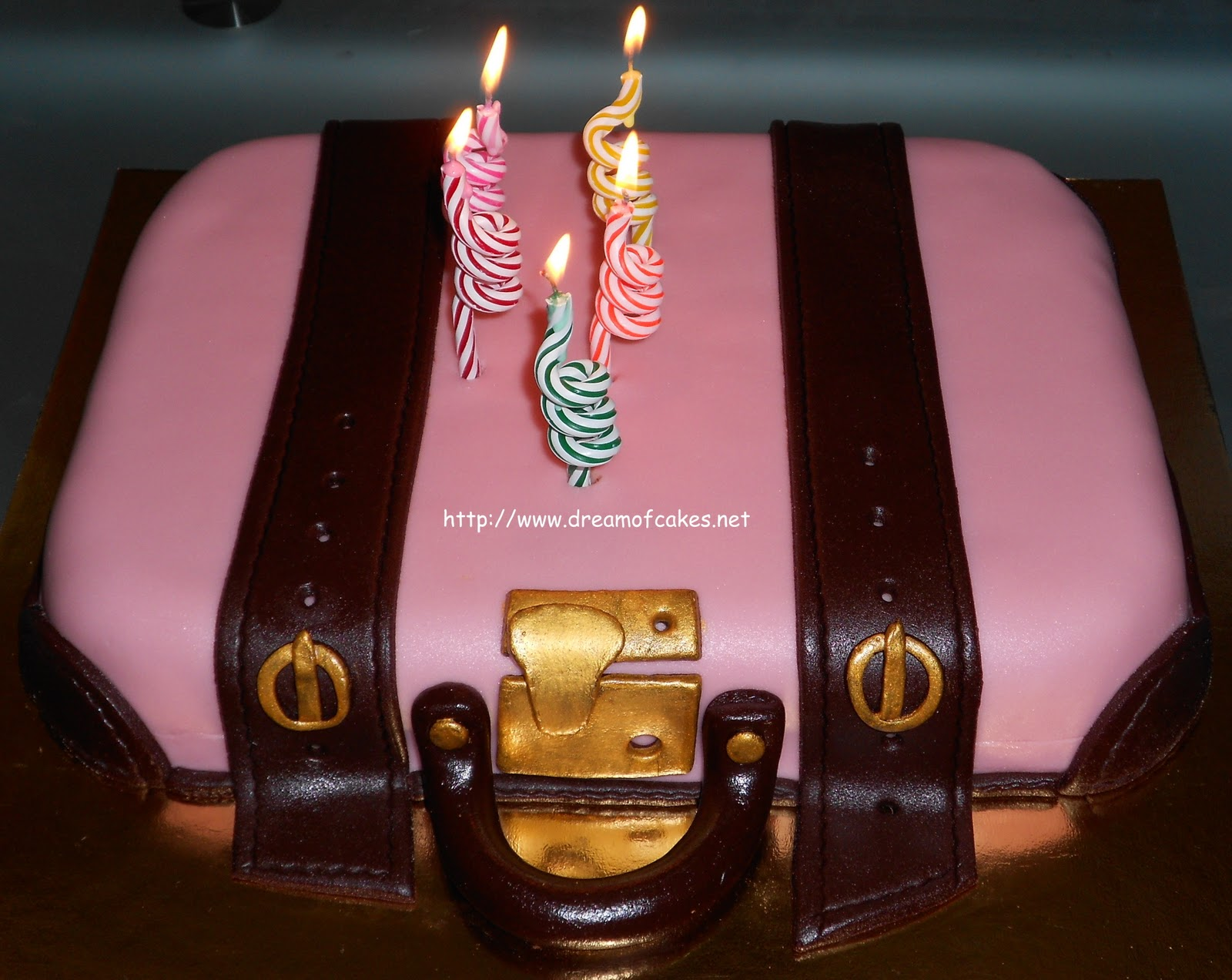 Suitcase Birthday Cake For Me