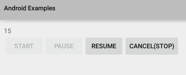 Android CountDownTimer Start, Pause, Resume and Cancel (Stop)