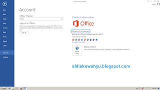microsoft office 2013 berhasil diaktifkan