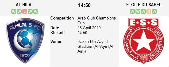 مباراة الهلال و النجم الساحلي بث مباشر 18/04/2019 كأس زايد
