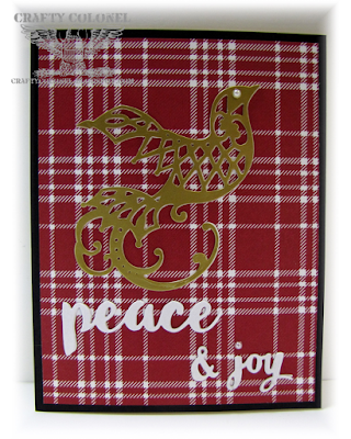 CraftyColonel Donna Nuce for Cards in Envy challenge blog. Christmas Card, Spellbinders and Memory Box dies.