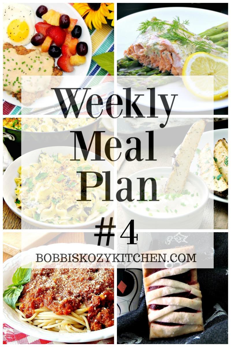 Free weekly meal plan week #4 from www.bobbiskozykitchen.com