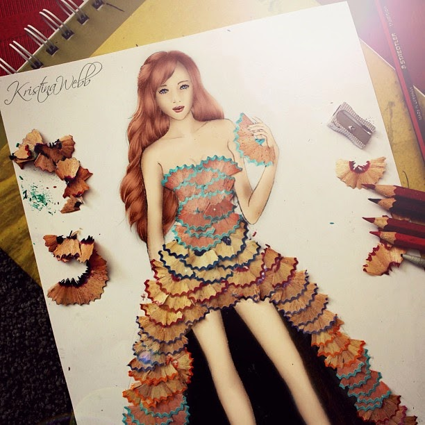10-Pencil-Dress-Kristina-Webb-Colour-me-Creative-Drawings-www-designstack-co