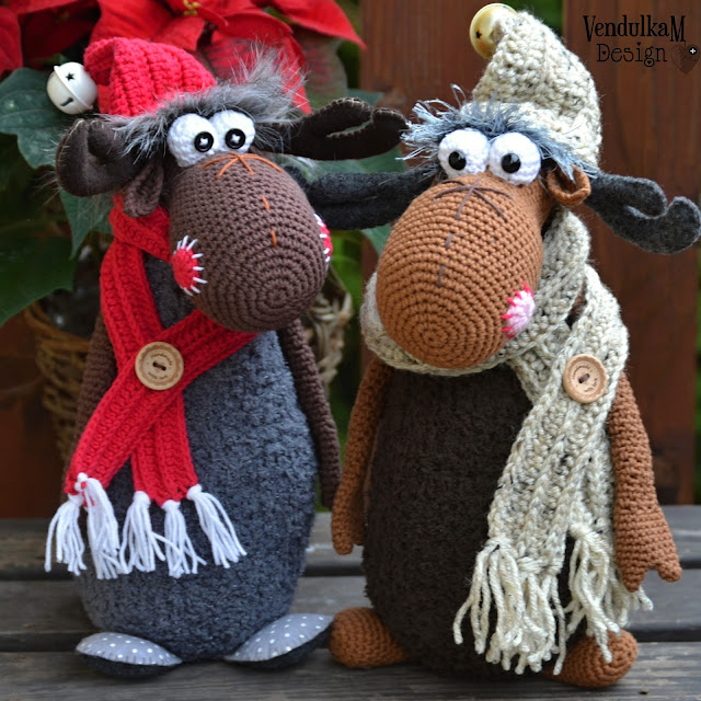 Crochet Moose pattern by VendulkaM
