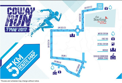 Coway run 5 km route map