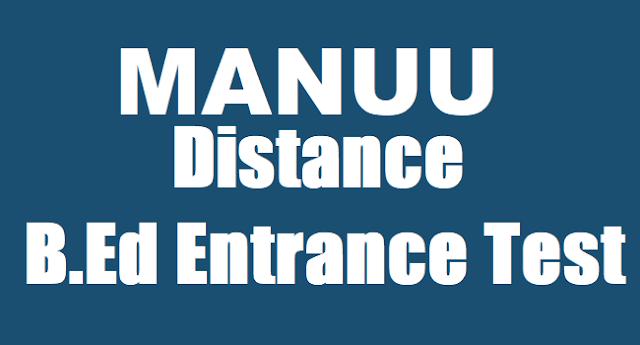 MANUU, Distance B.Ed Entrance Test, B.Ed(DM) Course Admissions