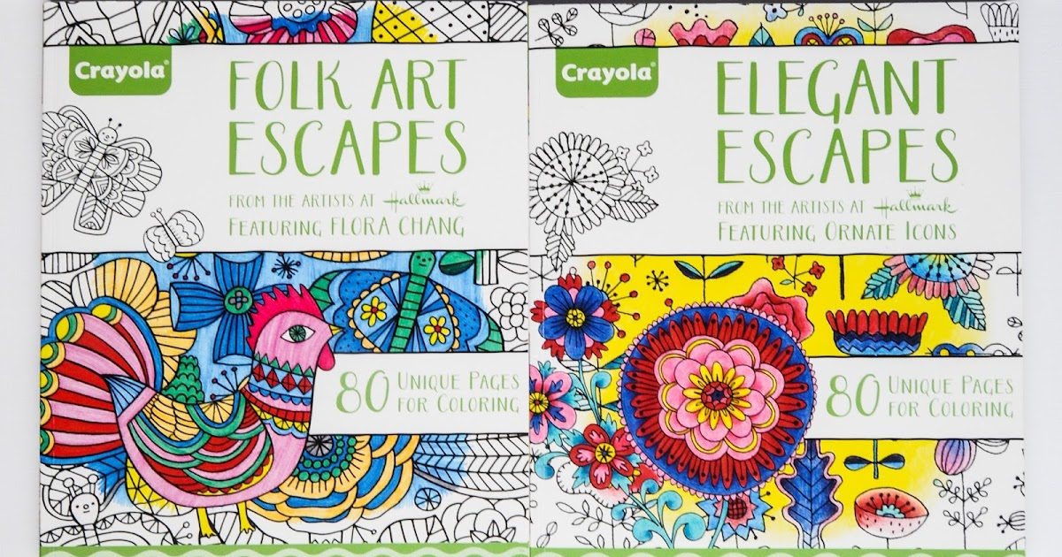 Jennys Crayon Collection Crayola Adult Coloring Books
