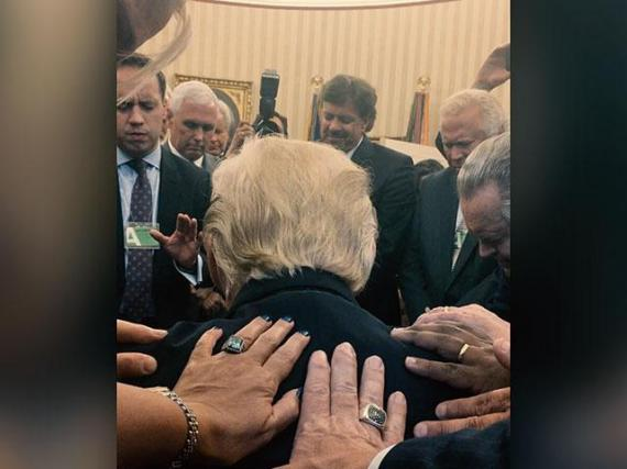 Trump Oval Office Prayer Photo Draws Mixed Reactions