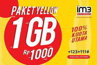Harga Paket Yellow Indosat 1GB