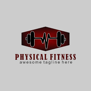Physical Fitness Logo Template Free Download Vector CDR, AI, EPS and PNG Formats