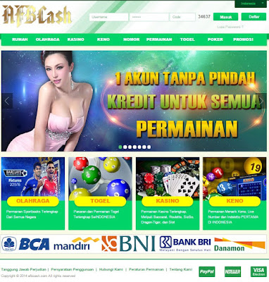 AFBCASH.COM | BANDAR JUDI BOLA, BANDAR CASINO, BANDAR TANGKAS ONLINE INDONESIA TERPERCAYA