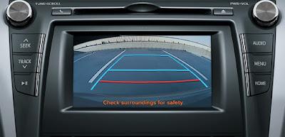 Camry 2.5Q được ưu ái với camera de tích hợp trên DVD