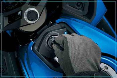 keyless Suzuki GSX R150 berteknologi Keyless tanpa starter kaki