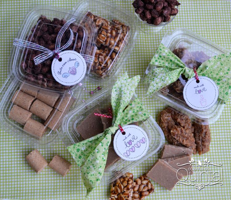 Muitos doces em junho com amendoim!! Para dar energia no frio =)