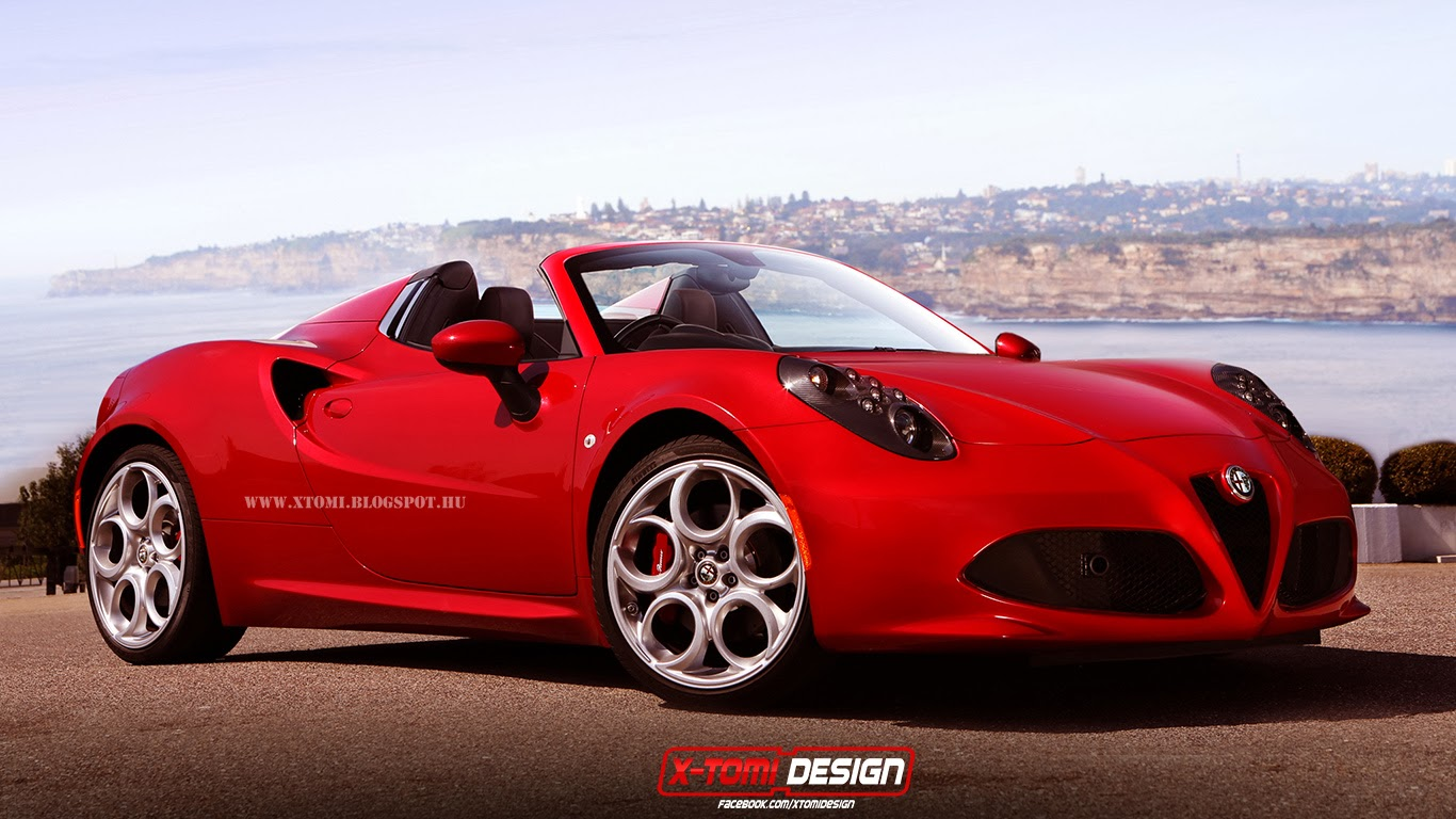 x tomi design alfa romeo 4c spider. Black Bedroom Furniture Sets. Home Design Ideas