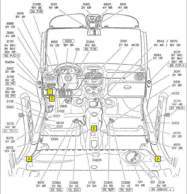 fiat punto 1 2 fuse box diagram