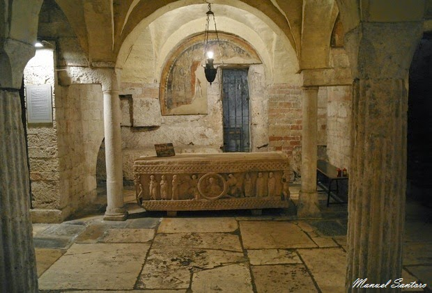 Spoleto, chiesa di Sant'Ansano. Cripta di Sant'Isacco