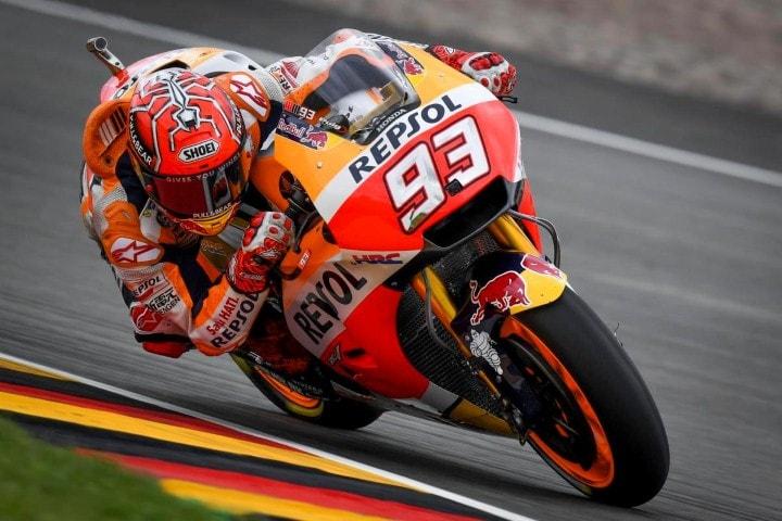 MotoGP Sachsenring 2017 : Marquez start pertama disusul Petrucci dan Pedrosa, tim pabrikan Yamaha terseok lagi !