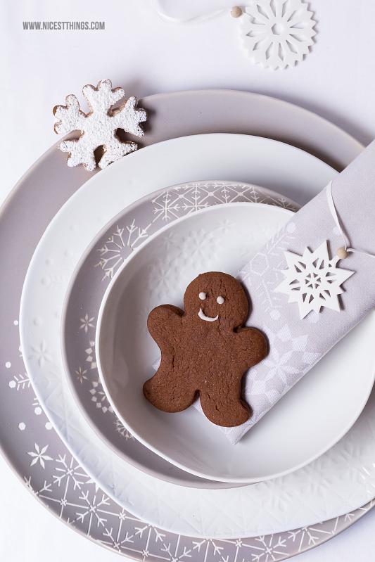 räder Wintertafel Tischdeko Weihnachten mit Schneeflocken und Eiskristallen